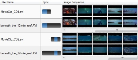 search split movies into multiple CDs, and show synchronized timeline thumbnails